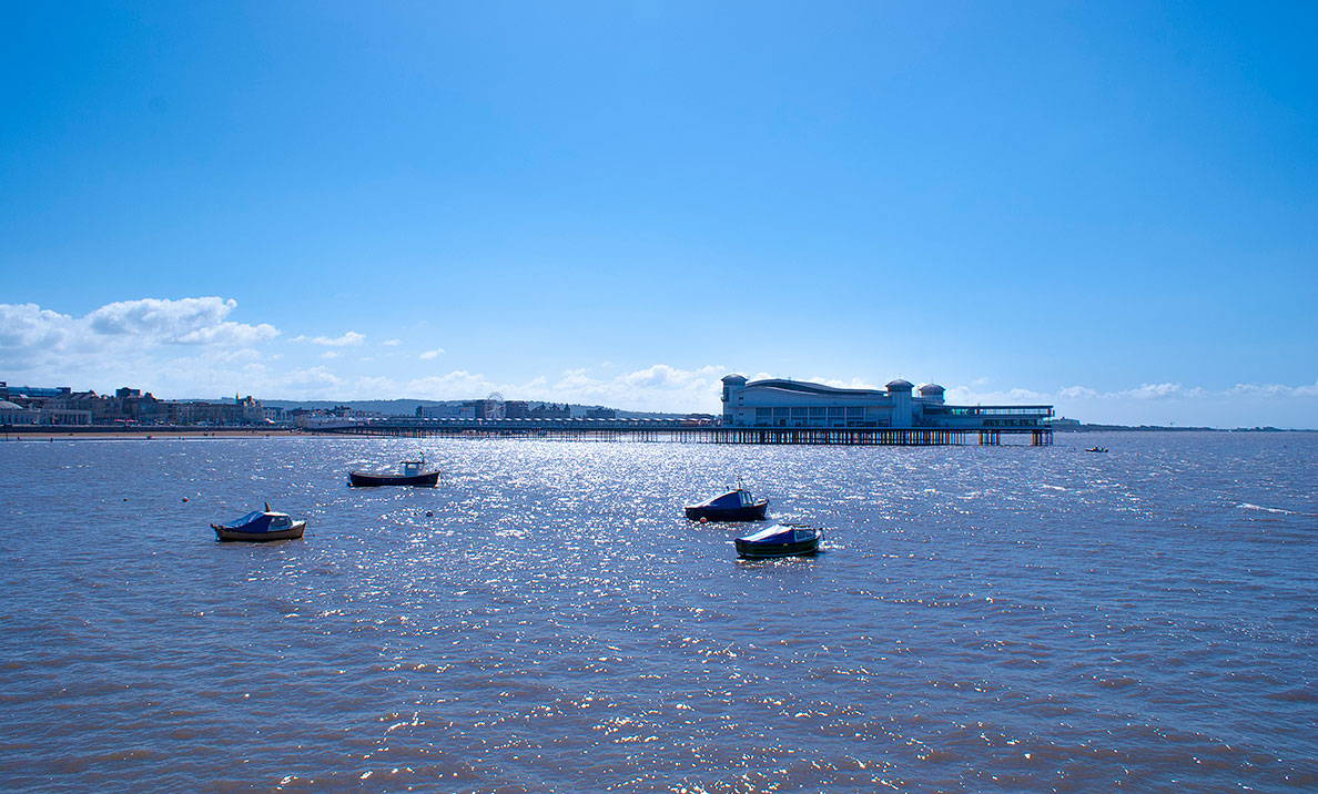 The Grand Pier from Knightstone, Weston-super-Mare